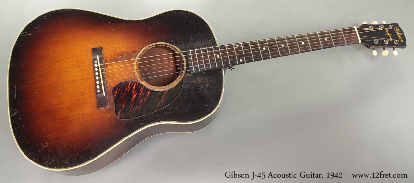 Gibson J-45 Acoustic Guitar 1942 full front view