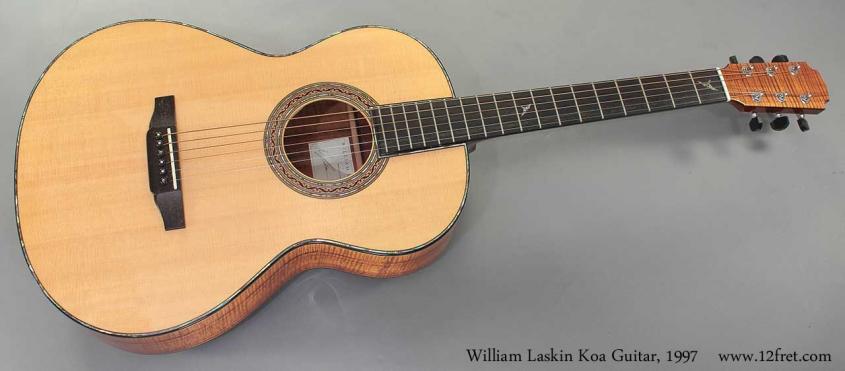 William Laskin Koa Guitar 1997 full front view