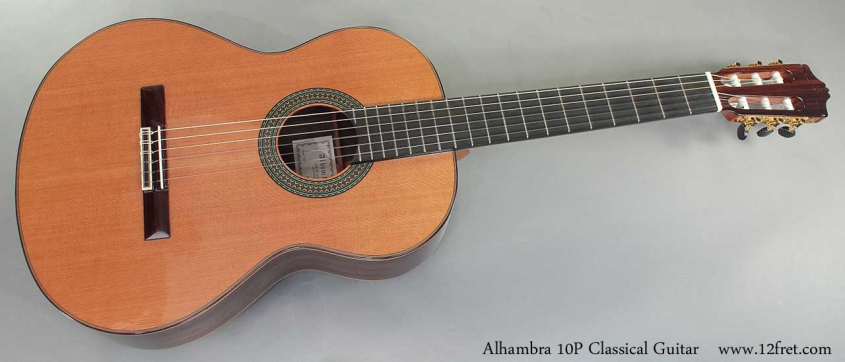 Alhambra 10P Classical Guitar full front view