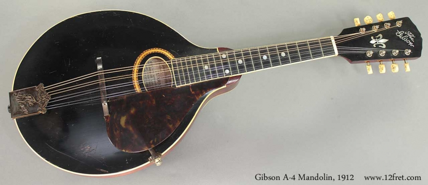 Gibson A-4 Mandolin 1912 full front view