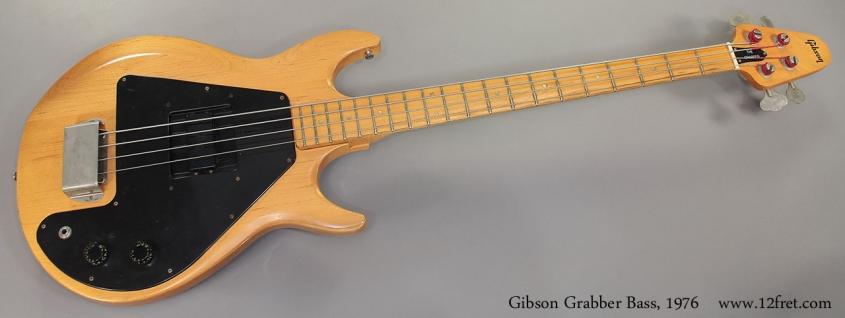 Gibson Grabber Bass, 1976 full front view