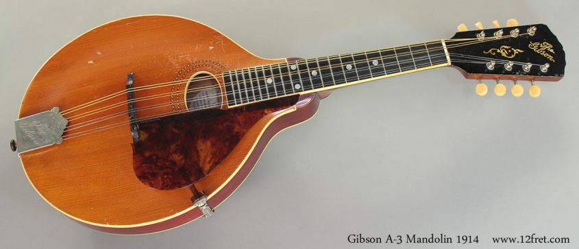 Gibson A-3 Mandolin 1914 Full Front View