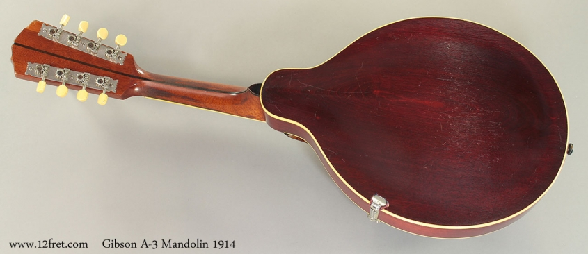 Gibson A-3 Mandolin 1914 Full Rear View