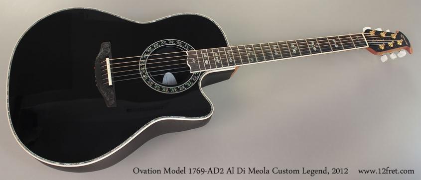 Ovation Model 1769-AD2 Al Di Meola Custom Legend, 2012 Full Front View