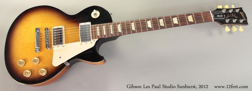 Gibson Les Paul Studio Sunburst, 2012 Full Front View