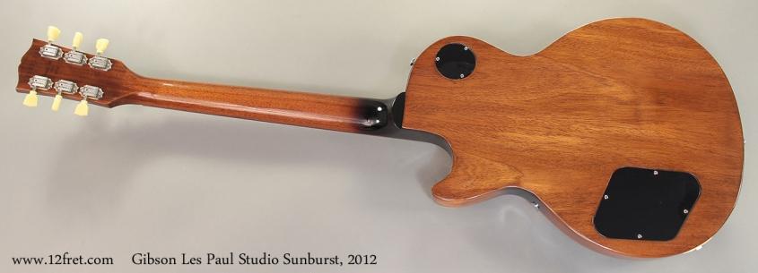 Gibson Les Paul Studio Sunburst, 2012 Full Rear View