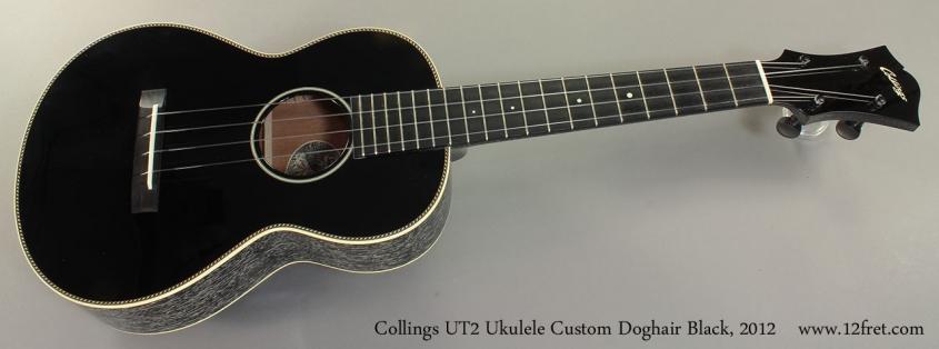Collings UT2 Ukulele Custom Doghair Black, 2012 Full Front View