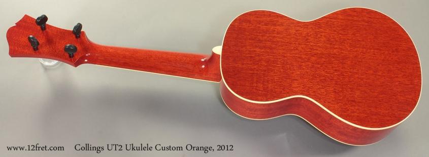 Collings UT2 Ukulele Custom Orange 2012 Full Rear View
