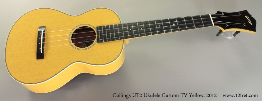 Collings UT2 Ukulele Custom TV Yellow, 2012 Full Front View