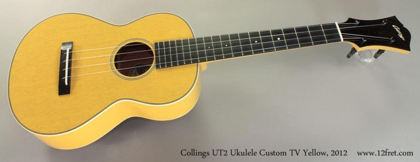 Collings UT2 Ukulele Custom TV Yellow, 2012 Full Front View