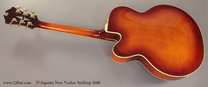 D'Aquisto New Yorker Archtop 2006 full rear view