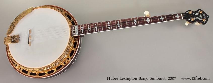 Huber Lexington Banjo Sunburst, 2007 Full Front View
