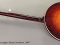 Huber Lexington Banjo Sunburst, 2007 Full Rear View