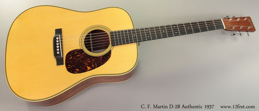 C. F. Martin D-28 Authentic 1937 Guitar Full Front View