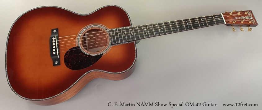 C. F. Martin NAMM Show Special OM-42 Guitar Full Front View
