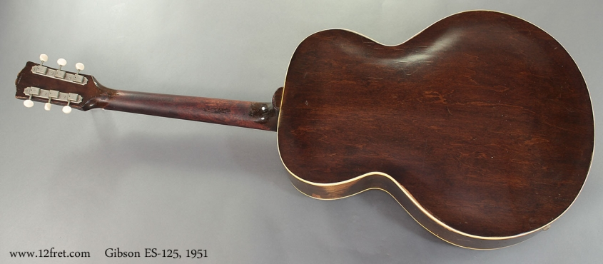 Gibson ES-125, 1951 full rear view