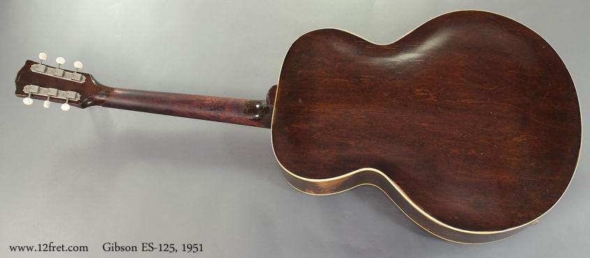 Gibson ES-125, 1951 full rear view