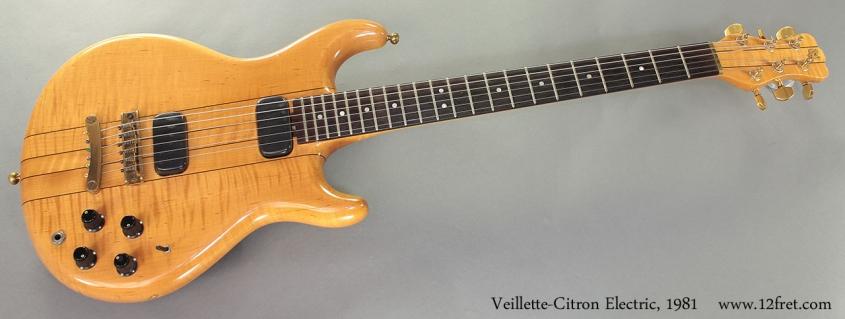 Veillette-Citron Electric, 1981 full front view