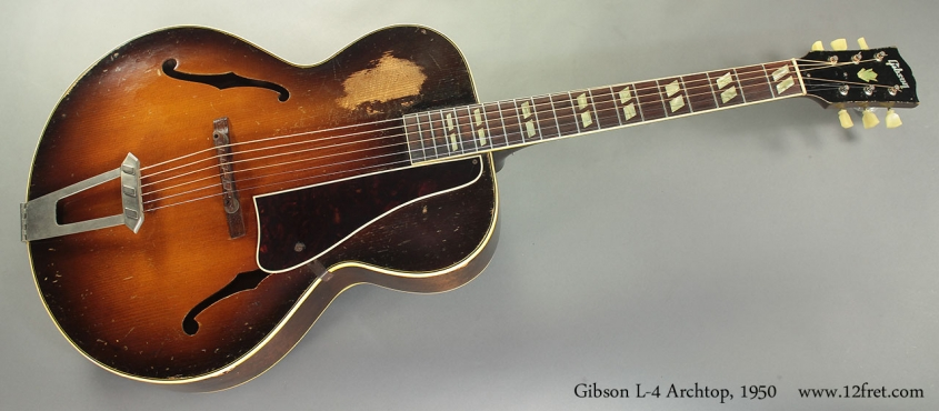 Gibson L-4 Archtop, 1950 full front view