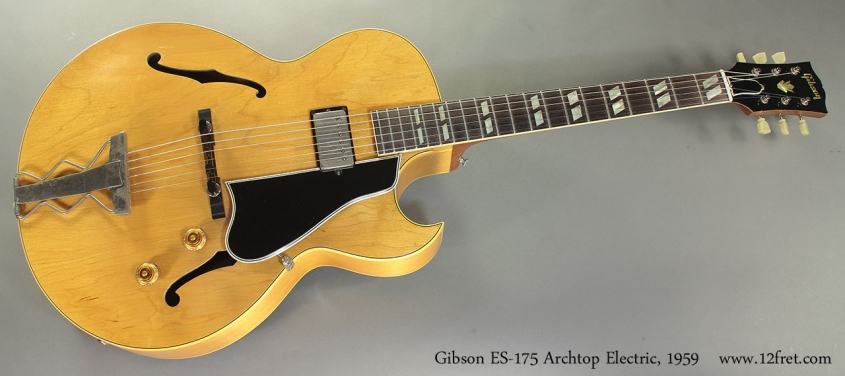 Gibson ES-175 Archtop Electric, 1959 full front view