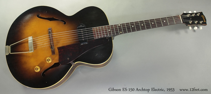 Gibson ES-150 Archtop Electric, 1953 full front view