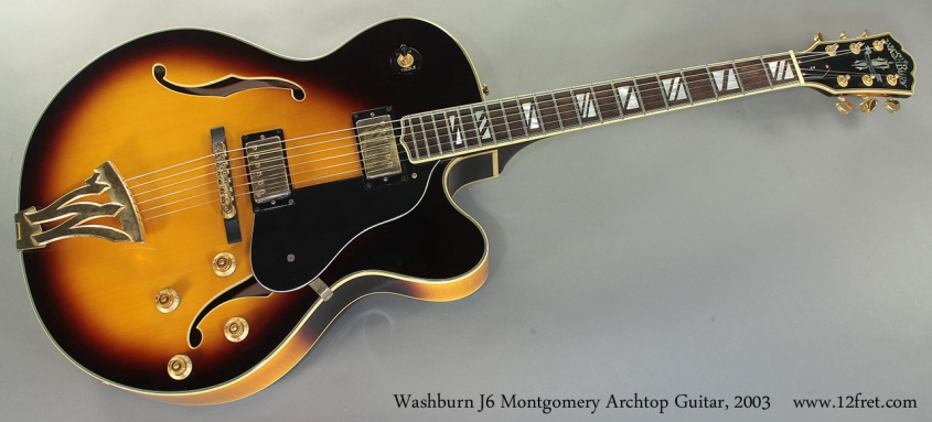 Washburn J6 Montgomery Archtop Guitar, 2003 full front view