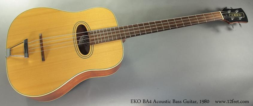 EKO BA4 Acoustic Bass Guitar, 1980 Full Front View