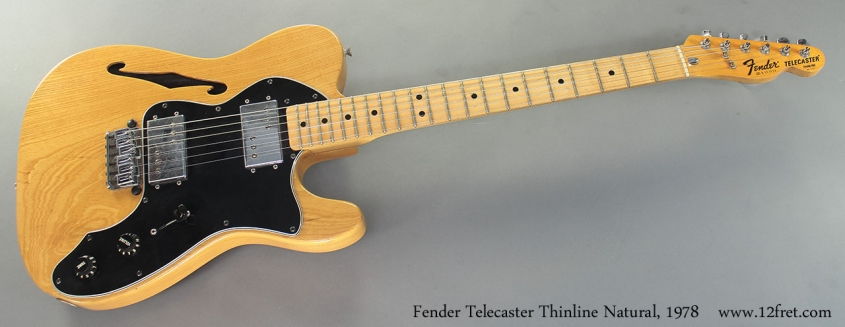 Fender Telecaster Thinline Natural, 1978 full front view