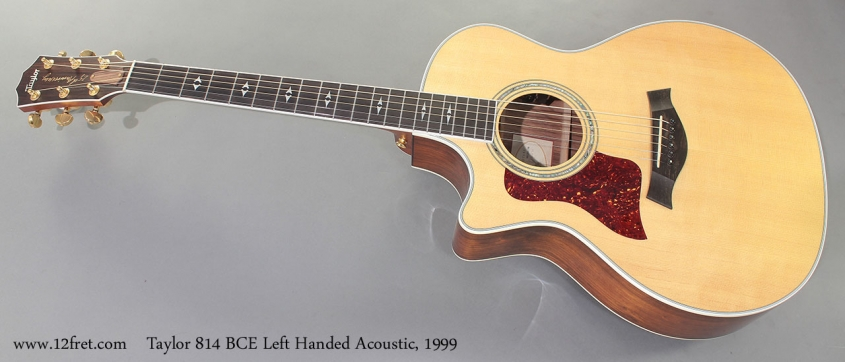 Taylor 814 BCE Left Handed Acoustic, 1999 Full Front View
