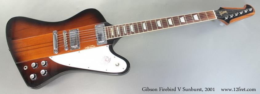 Gibson Firebird V Sunburst, 2001 Full Front View