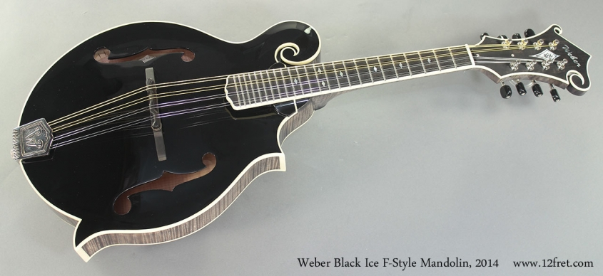 Weber Black Ice F-Style Mandolin, 2014 Full Front View