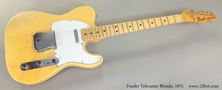 Fender Telecaster Blonde, 1975 Full Front View