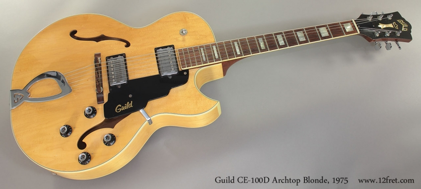 Guild CE-100D Archtop Blonde, 1975 Full Front View