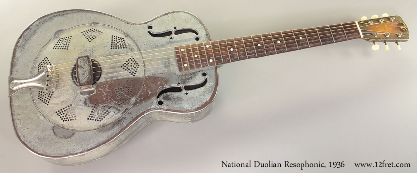 National Duolian Resophonic Guitar, 1936 Full Front View