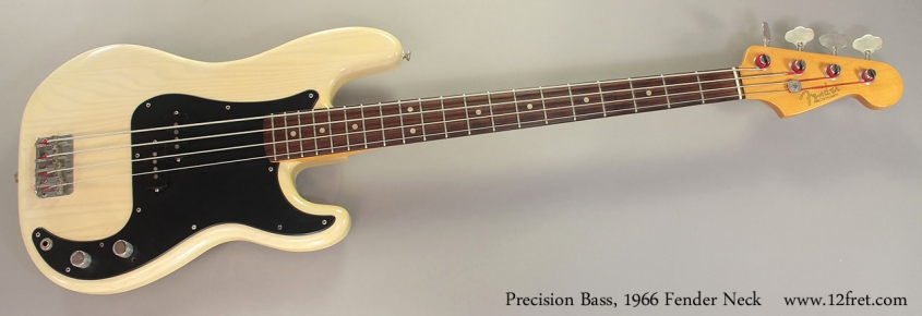 Precision Bass, 1966 Fender Neck Full Front View