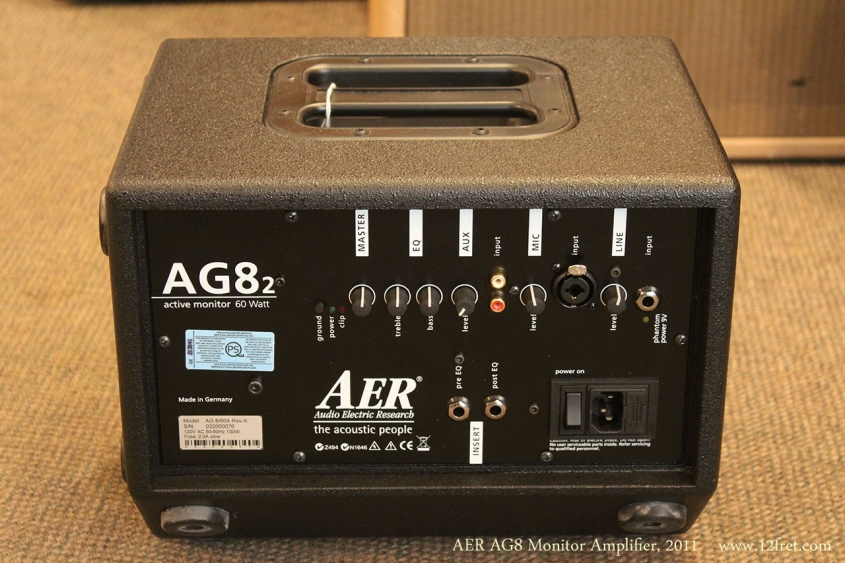 AER AG8 Monitor Amplifier, 2011 Rear View