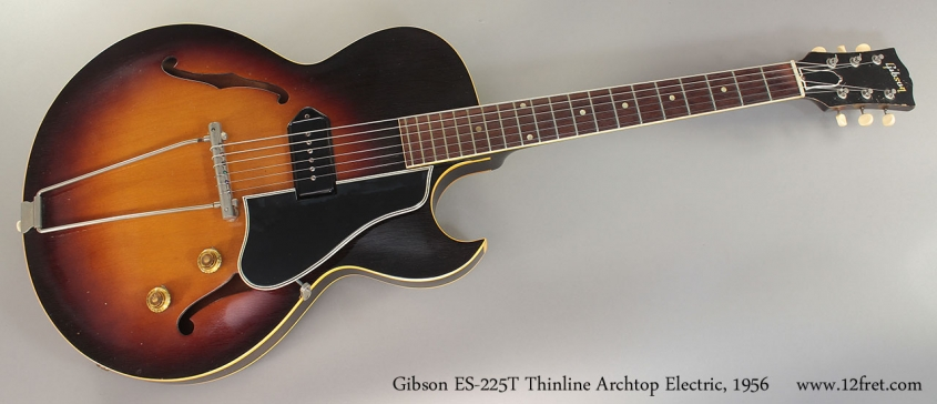 Gibson ES-225T Thinline Archtop Electric, 1956 Full Front View