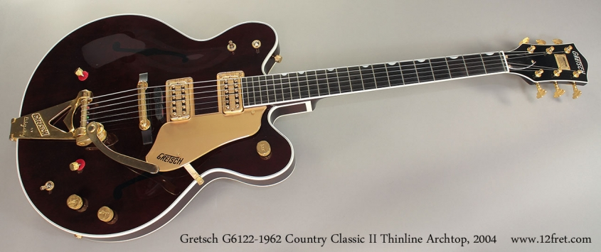 Gretsch G6122-1962 Country Classic II Thinline Archtop, 2004 Full Front View