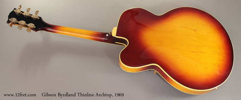 Gibson Byrdland Thinline Archtop, 1969 Full Rear View