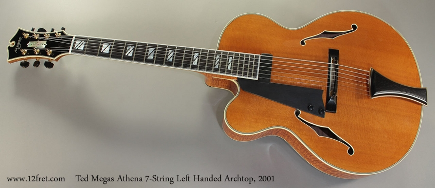 Ted Megas Athena 7-String Left Handed Archtop, 2001 Full Front View