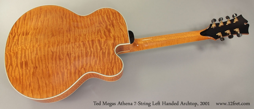 Ted Megas Athena 7-String Left Handed Archtop, 2001 Full Rear View