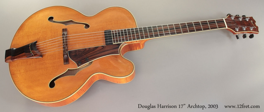 "Douglas Harrison 17"" Archtop, 2003 Full Front View"