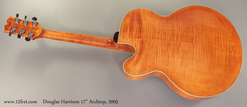 """Douglas Harrison 17"""" Archtop, 2003 Full Rear View"""