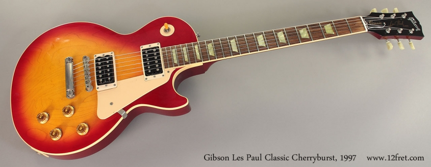 Gibson Les Paul Classic Cherryburst, 1997 Full Front View