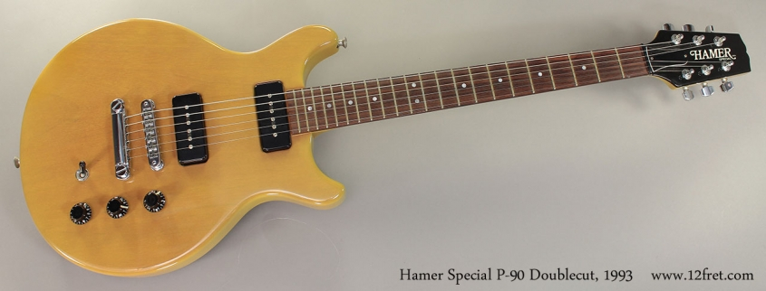Hamer Special P-90 TV Doublecut, 1993 Full Front View