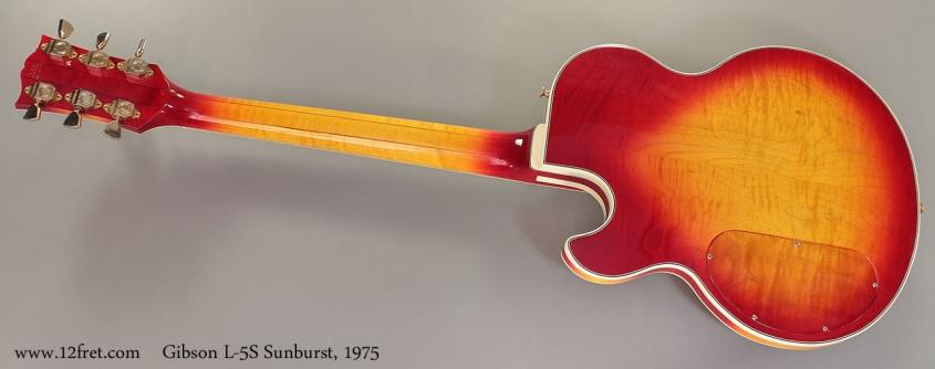 Gibson L-5S Sunburst, 1975 Full Rear View