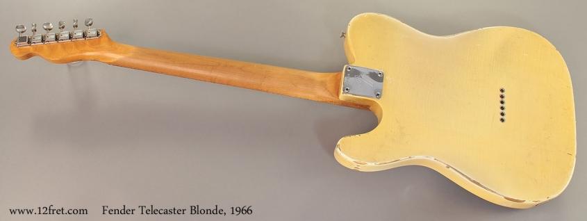 Fender Telecaster Blonde, 1966 Full Rear View