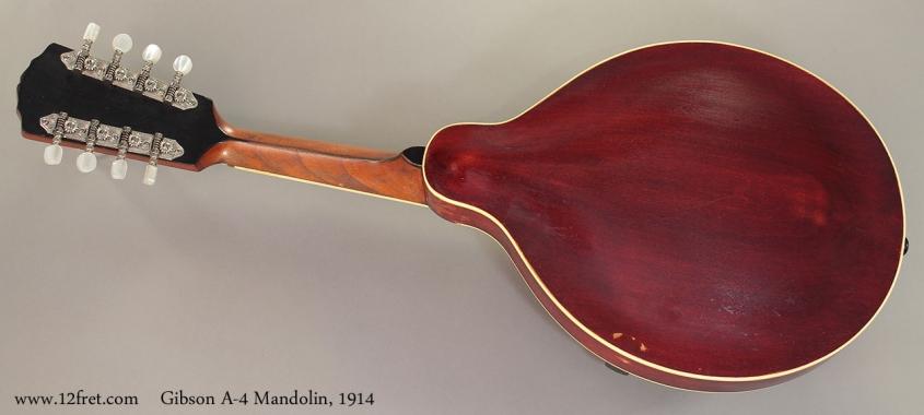 Gibson A-4 Mandolin, 1914 full rear view