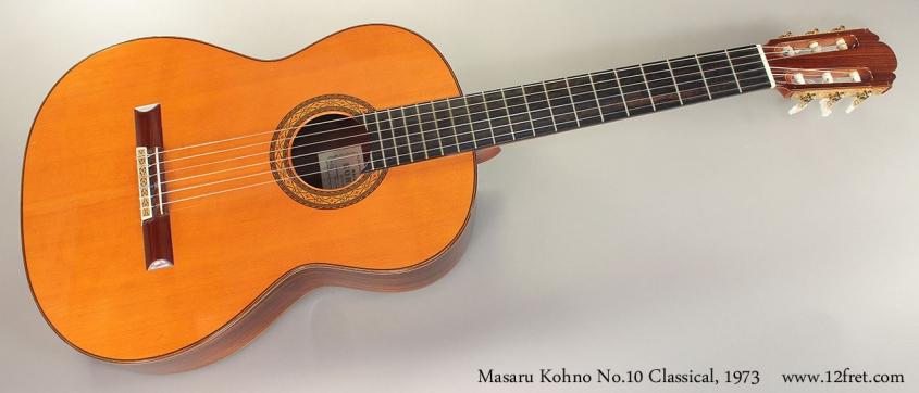 Masaru Kohno No.10 Classical, 1973 Full Front View