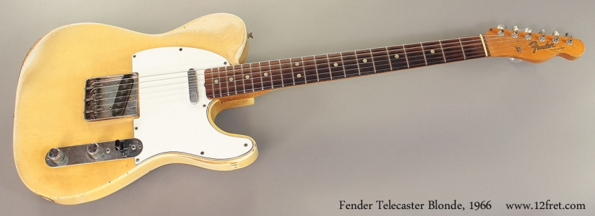 Fender Telecaster Blonde, 1966 Full Front View